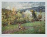 Upper Bavarian Landscape Collectable Print by Johann Sperl