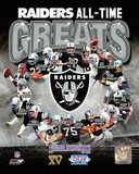 Oakland Raiders All Time Greats Composite Photographie