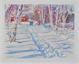 Landscape in Winter Samlertryk af Dodge Mac Knight