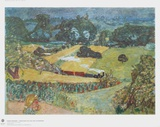 Landscape with Goods Train and Barges Collectable Print by Pierre Bonnard