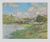 Landscape near Vetheuil Samletrykk av Claude Monet