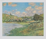 Landscape near Vetheuil Collectable Print by Claude Monet
