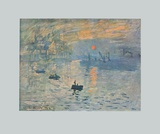 Impression (hand-made paper) Collectable Print by Claude Monet