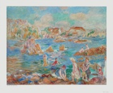 Bathers at Guernsey Collectable Print by Pierre-Auguste Renoir
