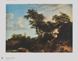 Landscape in the Gloaming Collectable Print by Jacob Ruisdael