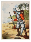 Robinson Crusoe Giclee Print by  English
