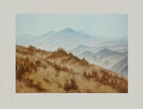 Riesengebirge about 1835 (hand-made paper) Collectable Print by Caspar David Friedrich