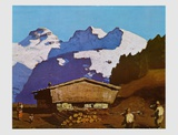 Farm in Tyrolian Mountains Posters by Alfons Walde