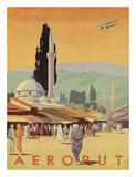 Aeroput Yugoslavia c.1930s Giclee Print by  Marcovic