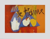 Je t'aime Poster by Robert Motherwell
