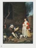 The Poultry Vendor, Elderly Man Collectable Print by Gabriel Metsu
