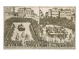 The Trial and Execution of Count Von Hardeck in 1595 Giclee Print by  German