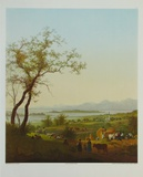 At the Lake Chiemsee Collectable Print by Peter Hess