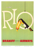 Braniff Air Rio c.1960s Poster