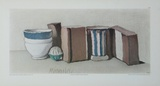 Cups and Jars, 1951 Reproductions pour les collectionneurs par Giorgio Morandi