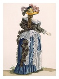 Back View of Ladies Gown, Engraved by Dupin, Plate No.247 Lámina giclée por Francois Louis Joseph Watteau