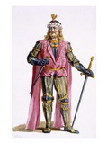 Theodoric I (1053-82) Count of Holland Giclee Print by Pierre Duflos