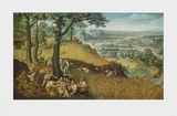 Summer Landscape with Corn Harvest Collectable Print by Lucas Valckenborgh