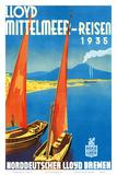 Lloyd Mittelmeer-Reisen c.1935 Prints