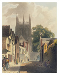 Magpie Lane, Oxford, Illustration from the 'History of Oxford' Engraved by J. Bluck (Fl.1791-1831) Giclee Print by Augustus Charles Pugin