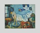 La chambre bleue (sur papier artisanal) Reproductions de collection par Pablo Picasso