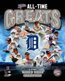 Detroit Tigers All Time Greats Composite Photographie
