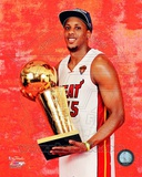 Mario Chalmers with the NBA Championship Trophy Game 5 of the 2012 NBA Finals Photo