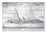 The Two Pyramids of Moeris, King of Egypt and His Wife, Plate 11 Giclee Print by Johann Bernhard Fischer Von Erlach