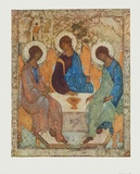 The Holy Trinity Collectable Print by Andrei Rubljew