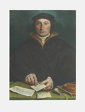 Portrait of Dirck Tybis Collectable Print by Hans Holbein