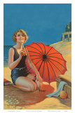 Inviting, Pin Up Girl c.1925 Print by Gene Pressler
