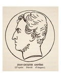 Jean-Jacques Ampere (Litho) Giclee Print by Pierre Jean David d'Angers