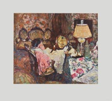 Mrs. Hessel in her Parlour Collectable Print by Édouard Vuillard