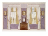 Elegant Draperies, Mauve Walls (Colour Litho) Giclee Print by Richard Goulburn Lovell