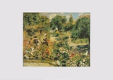 The Garten at Fontenay Poster par Pierre-Auguste Renoir
