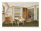 Attic Bedroom with Bunk Beds (Colour Litho) Giclee Print by Richard Goulburn Lovell