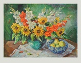 Flowers in a Vase Collectable Print by  Kaufmann