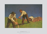 Reapers on the Mountain (Version I) Prints by Albin Egger-lienz