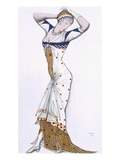 Design from a Fantasy of Modern Costume, 1912 (Colour Litho) Giclee Print by Leon Bakst