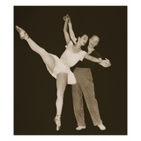 George Balanchine with Tamara Toumanova, from 'Grand Ballet De Monte-Carlo', 1949 (Photogravure) Giclee Print by  French Photographer