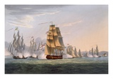 Capture of Le Sparviere, May 3rd 1810, from &#39;The Naval Achievements of Great Britain&#39; Giclee Print by Thomas Whitcombe
