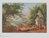 The Terrasse of Marly Collectable Print by Hubert Robert