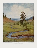 The Wandering Streamlet Prints by Hans Thoma