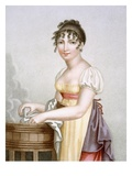 The Laundress, Engraved by Augrand, C.1816 (Coloured Engraving) Giclee Print by Madame G. Busset-Dubruste