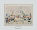 Paul Signac - La Rochelle - View of the Harbour - Koleksiyonluk Baskılar