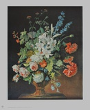 Still Life with Lilies, Poppies and Roses Collectable Print by Justus Huysum