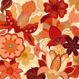 Vermilion Garden I Prints
