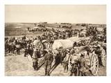 In the Battle Zone at Fismes, 1918 (B/W Photo) Giclee Print by  German photographer