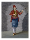 Musician of the Greek Islands, Plate 70 Giclée-Druck von Jean Baptiste Vanmour