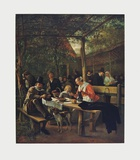 Garden of the Inn Collectable Print by Jan Havicksz. Steen